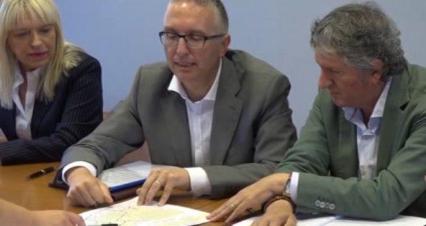 Da sinistra: Rosa Piermattei, Luca Ceriscioli e Giuseppe Pezzanesi