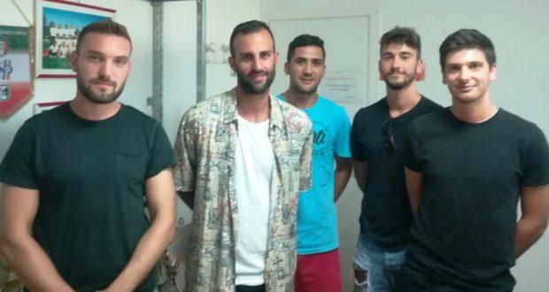 a sx a dx: Minnucci, Montanari, Dedja, Prioglio, Caracci