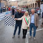 Il via alla corsa con il sindaco e gli assessori Paoloni e Orlandani