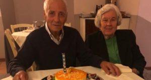 Pacifico Maurelli assieme alla moglie Maria Papa
