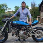 Massimo Orazi con la sua moto