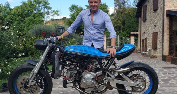 Massimo Orazi e la sua moto