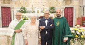 Giuseppina e Nazzareno con don Luca Ferro e Mario Borioni