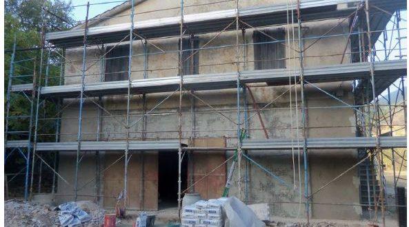L'abitazione recuperata con lavori post terremoto nella Valle dei Grilli