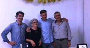 Raniero Bordo con la sua famiglia