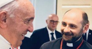 Don Luca Ferro con Papa Francesco