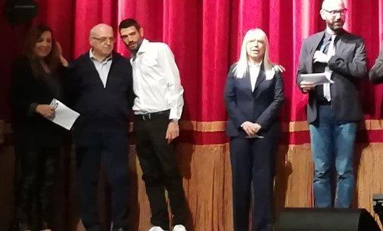 Raoul e Lorenzo Paciaroni al Feronia in occasione dell'inaugurazione del 30° anna accademico dell'Uteam