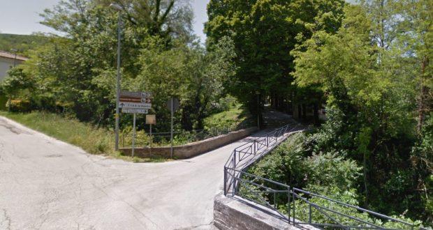 Il ponte all'inizio di via Cappuccini