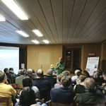Marino Scattolini introduce una delle serate al Feronia