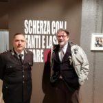 L'architetto Luca Maria Cristini con il colonnello Carmelo Grasso