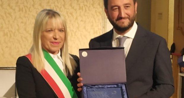 Il sindaco Rosa Piermattei premiata a Roma