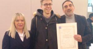 Ceresani con il Dirigente Luciani e il sindaco Piermattei