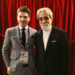 Valerio Scarponi col Maestro Giuseppe Vessicchio