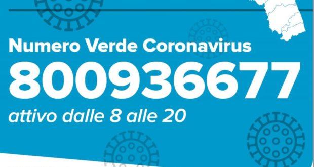 Il numero verde della Regione Marche