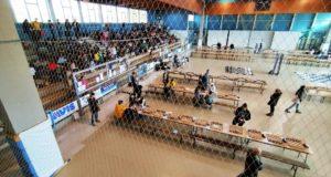 Un'immagine del palasport settempedano durante la manifestazione di scacchi