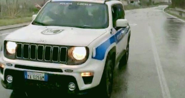 L'auto della Polizia locale