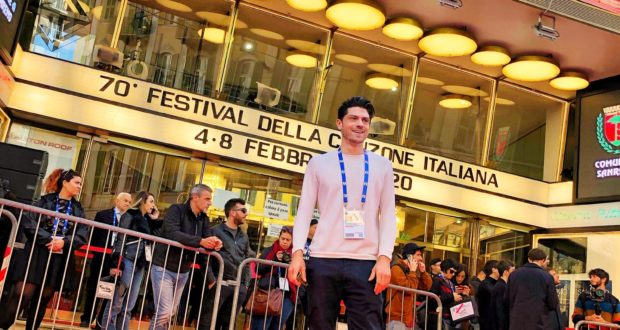 Valerio Scarponi all'Ariston di Sanremo