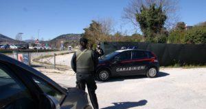 Un posto di blocco dei Carabinieri di San Severino