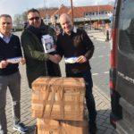 Moscatelli e Compagnucci ritirano mascherine e gel in Olanda