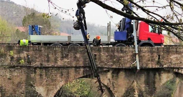 Pulizia dell'alveo all'altezza del Ponte Sant'Antonio