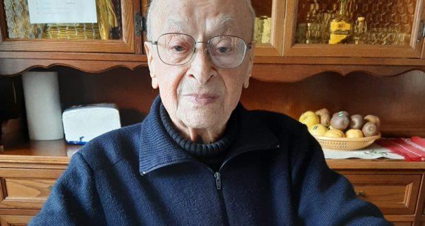 Don Luigi Angeloni il giorno del suo 98esimo compleanno: era il 9 febbraio 2020