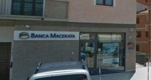 La filiale di Banca Macerata in via Gorgonero a San Severino