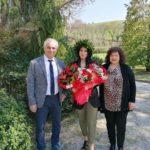 Chantal Romagnoli con i suoi genitori