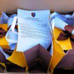 Uova pasquali e lettera dell'Associazione nazionale Carabinieri