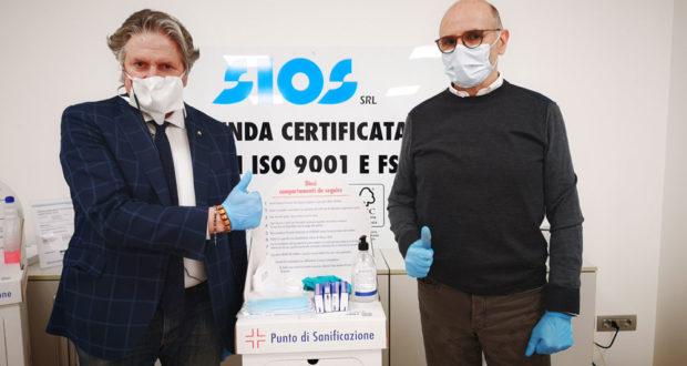 Gualtiero Taborro con il sindaco Giuseppe Pezzanesi