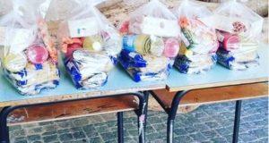 I pacchi alimentari a disposizione di chi ne ha bisogno