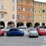 Le auto partecipanti all'iniziativa