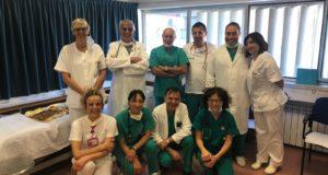 Il saluto del reparto ai colleghi di Camerino e Civitanova