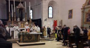 La basilica di San Lorenzo durante la celebrazione per il patrono