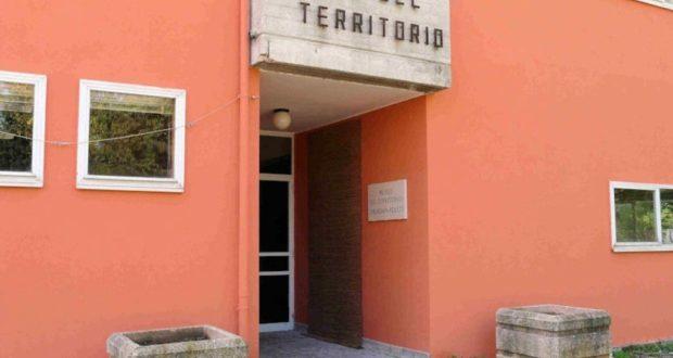 L'ingresso del Museo del territorio dove ora sono ospitate alcune classi della Primaria