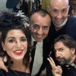 Moscatelli con il cantante Marco Virgili e la modella Federica Zarroli