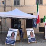 La sede elettorale di Tiziana Gazzellini presso la sezione di Fratelli d'Italia
