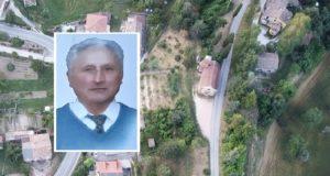 """La chiesa del Torrone vista dall'alto e, nel riquadro, """"Nannì"""" Panichelli"""