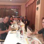 """Chris Froome a cena con i suoi compagni di squadra al """"Faro"""""""