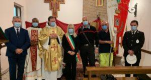 Autorità locali con il nuovo Ministro dei frati minori delle Marche, padre Giampieri