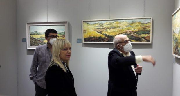 Il sindaco Rosa Piermattei con il professor Alberto Pellegrino