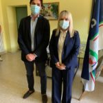 Il sindaco Rosa Piermattei e l'on. Francesco Acquaroli