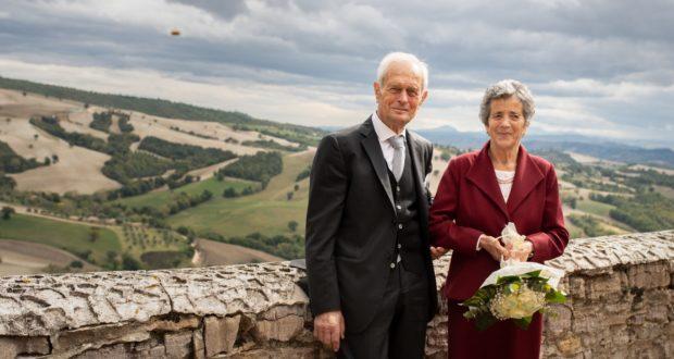 Elio e Marsilia a Serralta nel giorno del 60esimo di matrimonio