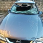 L'auto danneggiata
