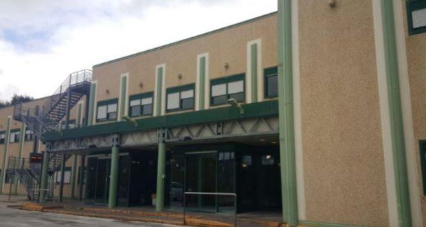 L'ingresso dell'ospedale di Camerino