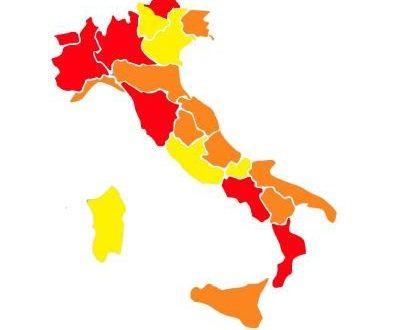 La nuova mappa delle restrizioni anti-Covid