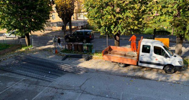 Il parcheggio di viale Bigioli interessato dal cantiere dell'Ipsia