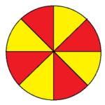 Fig. 4 - Mappa colorabile con due colori