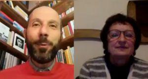 Francesco Rapaccioni con la scrittrice Donatella Di Pietrantonio