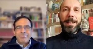 Vito Mancuso in collegamento con Francesco Rapaccioni