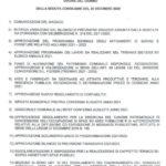 L'ordine del giorno del Consiglio comunale